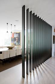 Living Room And Dining Room Divider Interior Partitions Room Zoning Design Ideas Black Wooden Wall