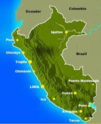 peru on map peru map major cities the only peru guide