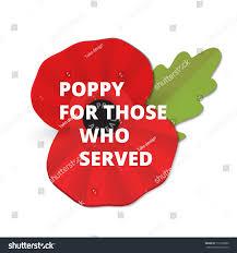 remembrance poppy poppy appeal modern paper stock vector 717239890