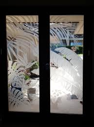 Etched Glass Designs For Kitchen Cabinets Design Your Own Tropical Etched Glass Windows And Doors Custom