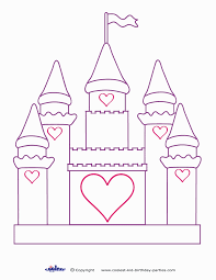 coloring page of castle coloring home