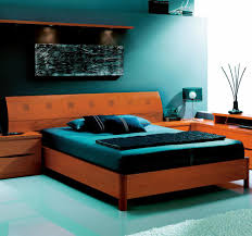 114 natural wood color bed with wood headboard and wooden slat