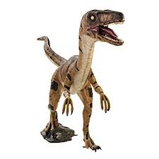 design toscano velociraptor jurassic sized dinosaur