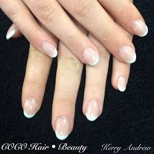sculptured french round acrylic nails nail round acrylic nails