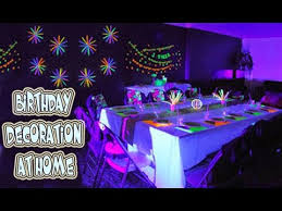 birthday decoration at home youtube