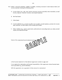 Sample Financial Report Appendix B Sample Of A Contractor S Qualification Statement
