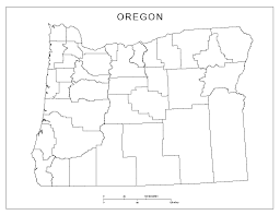 Map Of Eastern Oregon by Oregon Blank Map