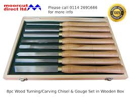 Wood Carving Chisel Set Uk by Moorcut Direct Wood Turning Carving Lathe Gouge U0026 Chisel Set 8pc