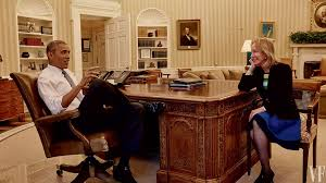 obama at desk barack obama and doris kearns goodwin the ultimate exit interview