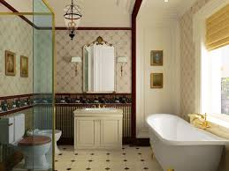 beige tile bathroom cladding white wall color towels hook brown