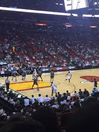 american airlines arena section 109 row 18 seat 4 miami heat