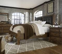 furniture echo park 4 piece poster bedroom set in mocha