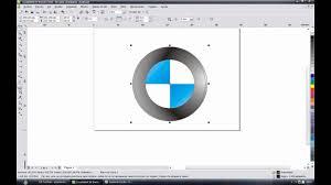 logo bmw como hacer el logo de bmw coreldraw x4 cecytem tecamac youtube