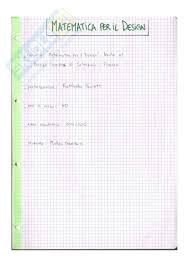 dispense algebra lineare esame matematica per il design prof paoletti libro consigliato
