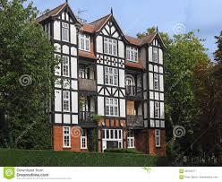tudor style apartment building stock photo image 82853277