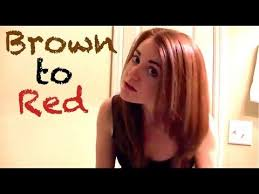 dying red hair light brown dying my hair from light brown to cinnaberry red youtube