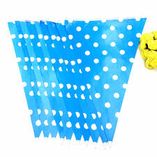 Hello Kitty Flag 2 5m Set Dot Striped Hello Kitty Party Supplies Colorful Paper