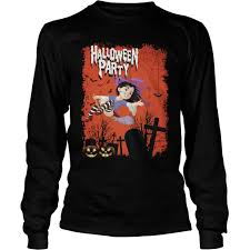 Womens Halloween Shirts Woman Witches Halloween Party Shirt