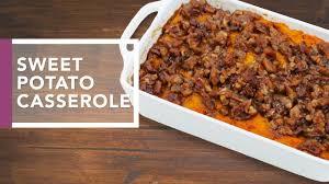 sweet potato casserole with pecan streusel dinner