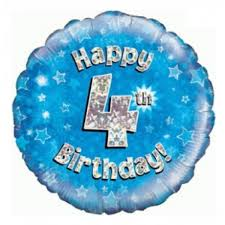 balloons in a box delivery 18 inch happy 4th birthday blue foil balloon buy helium balloons