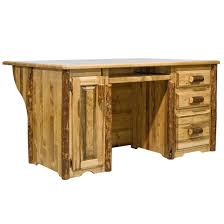 log office desks rustic log furniture by amish meadows