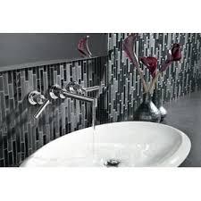 In Wall Bathroom Faucets Wall Mounted Bathroom Sink Faucets You U0027ll Love