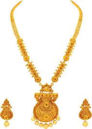 long gold necklace sets images Long gold necklace buy long gold necklace online at best prices jpeg