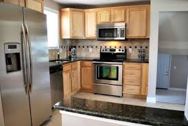 Light Wood Kitchens Attractive Light Wood Kitchen Cabinets On Dark Brown Paint Colors