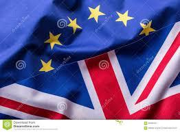 flags of the united kingdom and the european union uk flag and eu