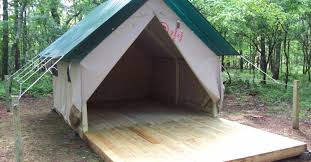 wall tent campsite alapark