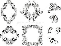 scroll ornaments vector illustration sergio hayashi hayaship