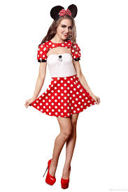 minnie and mickey mouse halloween costumes for adults 2017 uniform for women halloween suit for female