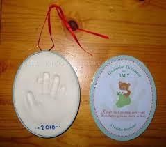 salt dough crafts reindeer footprint ornaments handprint