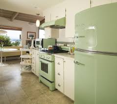 Cream Cabinets In Kitchen Kitchen Retro Kitchen With Pastel Green Foldable Table And Chairs