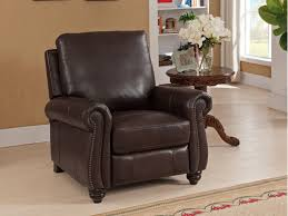 9758 r raleigh brown recliner leather high leg recliners