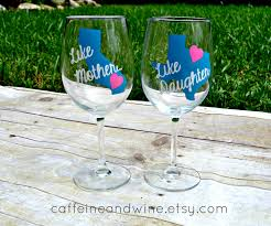 mothers day from daughter matching wine glass like mother