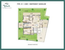 Bungalows Floor Plans by Mont Vert Valencia 2 Pune Discuss Rate Review Comment Floor