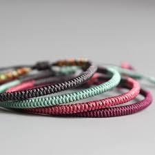 knot rope bracelet images Tibetan buddhist handmade knots lucky rope bracelets zenlife jpg