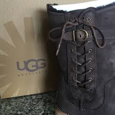 ugg womens amelia boots chocolate 52 ugg boots ugg amelia chocolate brown leather boots from