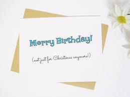 Merry Birthday Card Items Similar To Merry Birthday Card On Etsy