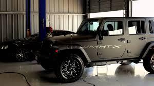 black jeep wrangler matte black jeep wrangler unlimited with fuel off road wheels