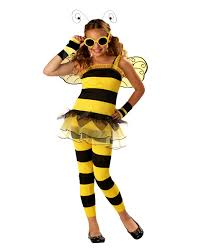 girls little honey bee costume season halloween for work