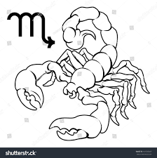 illustration scorpio scorpion zodiac horoscope astrology stock
