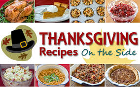 thanksgiving recipes cooking on the side