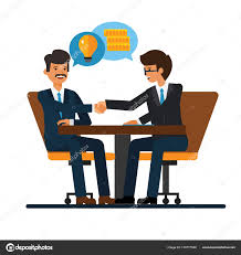 bureau de dessin les négociations commerciales isolement d hommes d affaires se