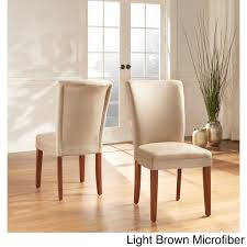 tribecca home parson classic upholstered dining chair set of 2