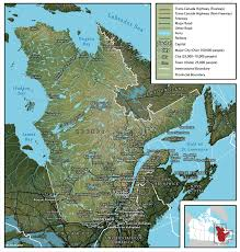 canadian map cities geography of