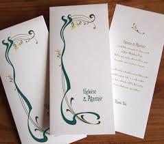 art nouveau wedding invitations u2013 paper pleasures wedding stationery