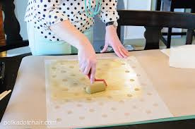 Metallic Gold Fabric Spray Paint - polka dot and leather fold over clutch sewing tutorial on polka