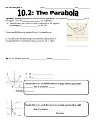 top 11 graphing quadratic functions in vertex form worksheet